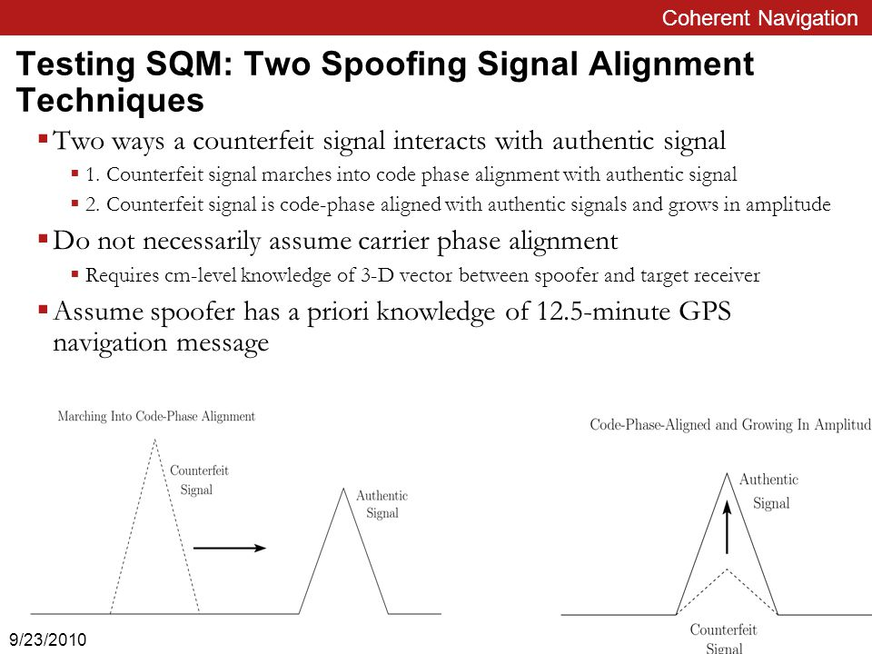 Case 1: Counterfeit Signal Marching In