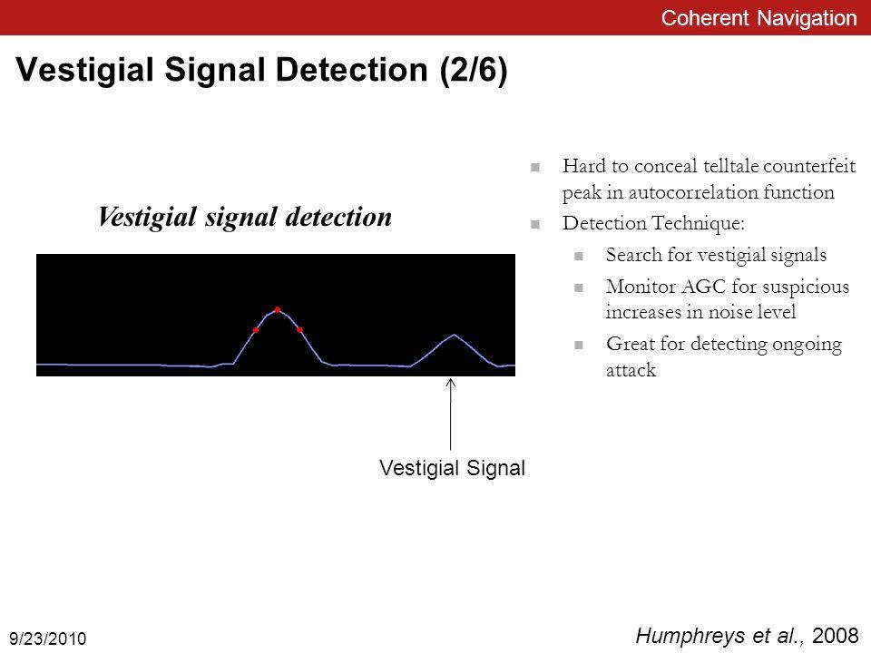 Vestigial Signal Detection Cont'd