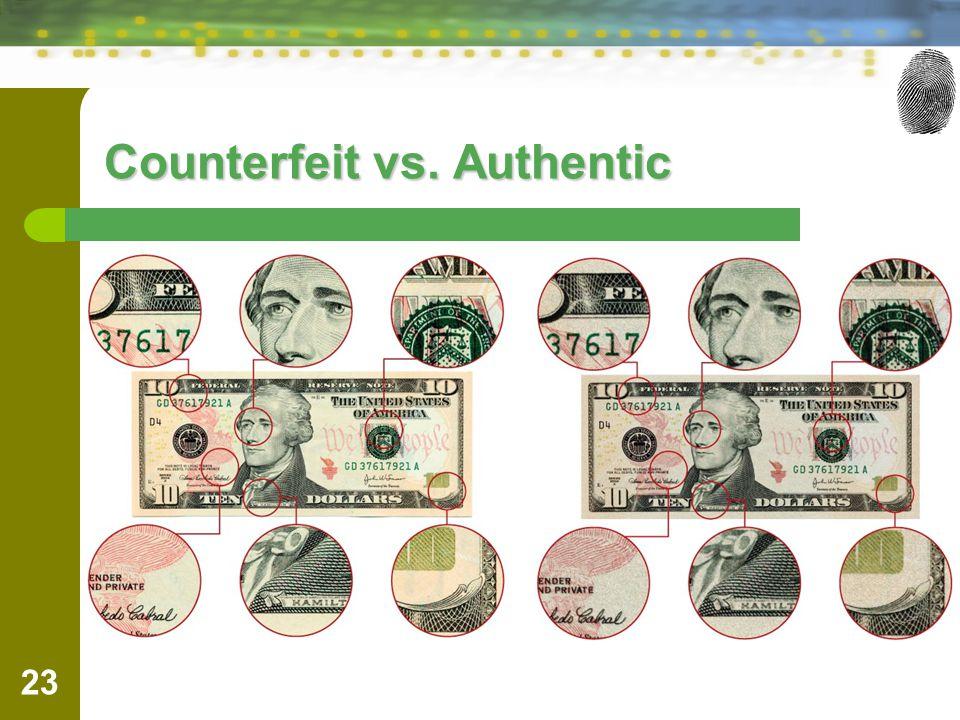 Counterfeit vs. Authentic