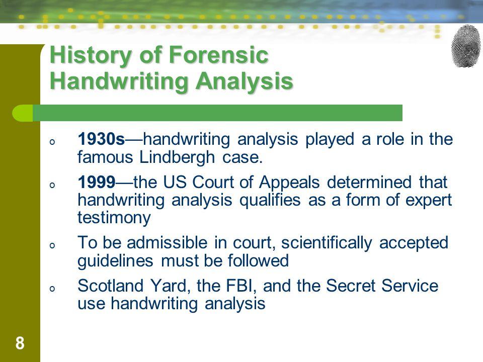 History of Forensic Handwriting Analysis
