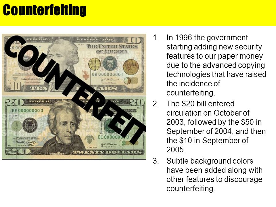 Counterfeiting Chapter 15.
