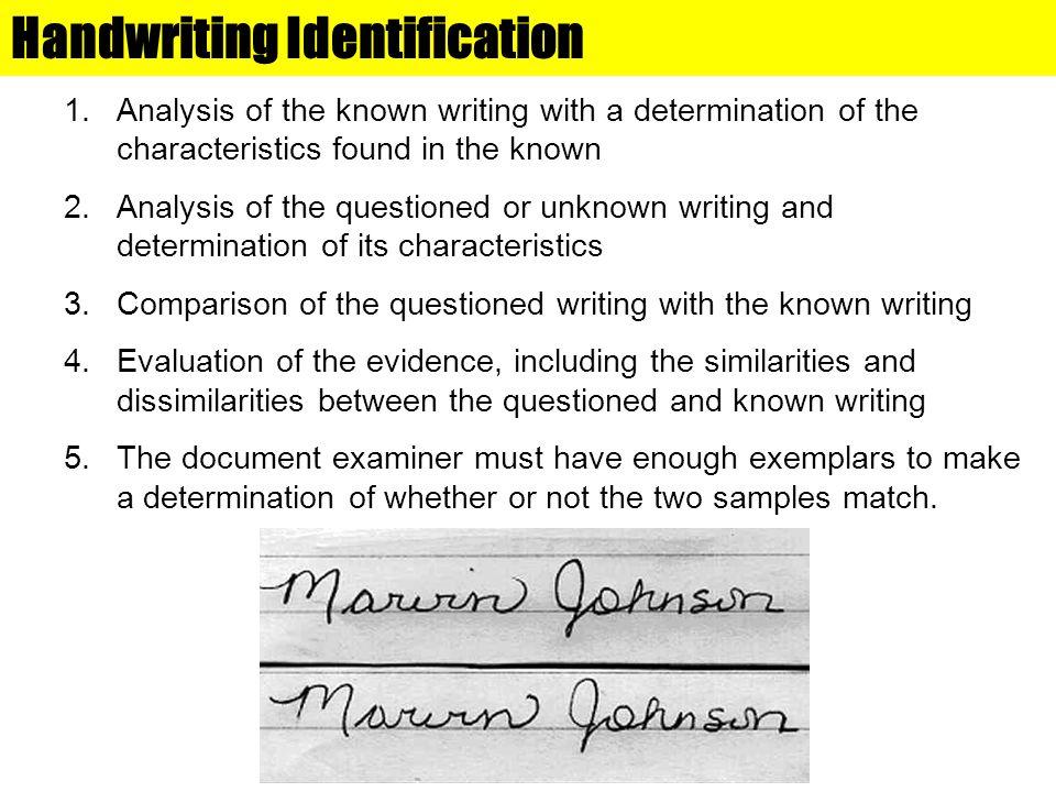 Handwriting Identification