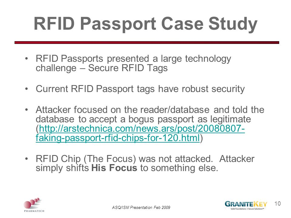 RFID Passport Case Study
