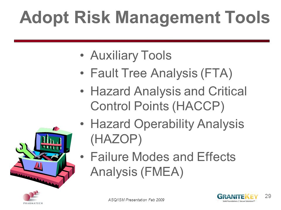 Adopt Risk Management Tools