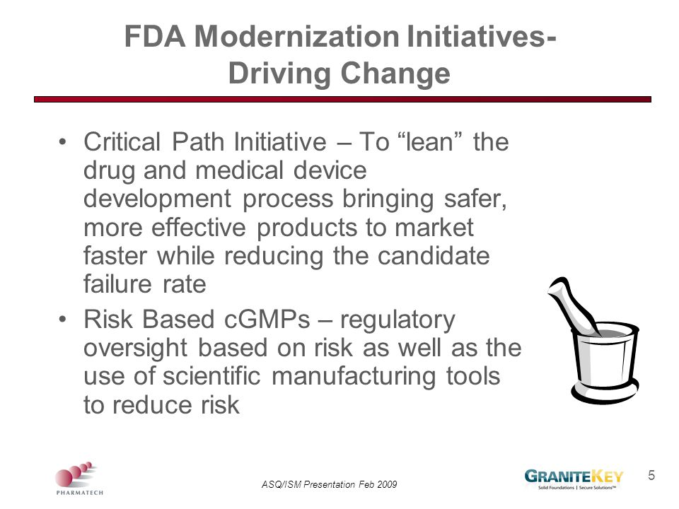 FDA Modernization Initiatives- Driving Change