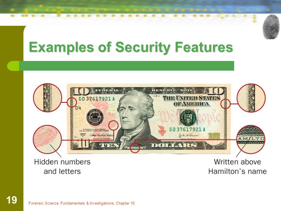 Examples of Security Features