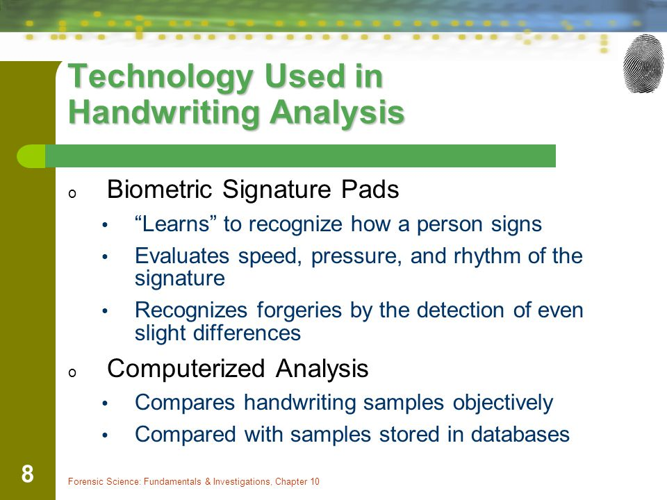 Technology Used in Handwriting Analysis