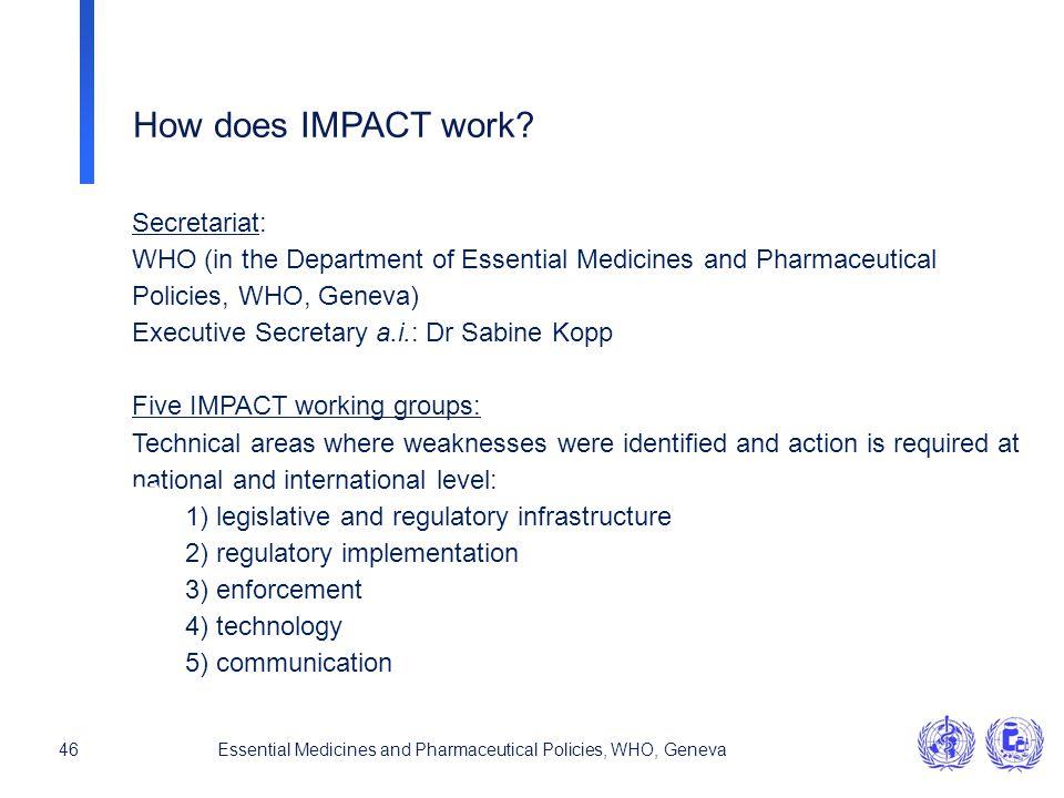 How does IMPACT work Secretariat: