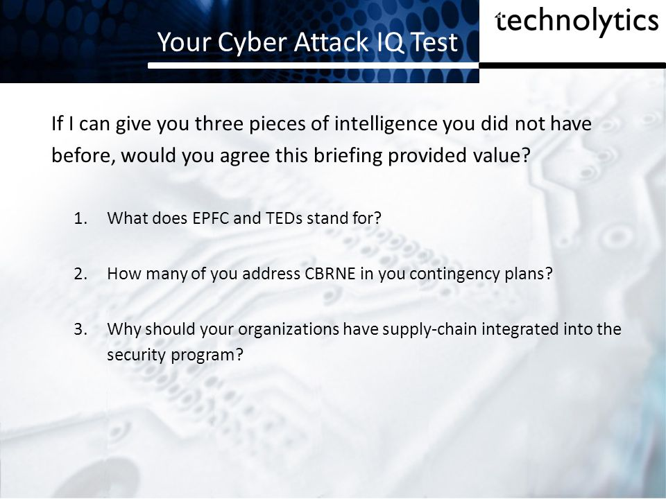 Your Cyber Attack IQ Test