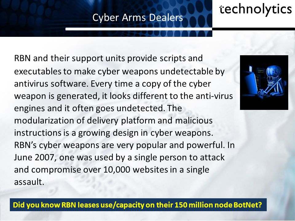 Cyber Arms Dealers