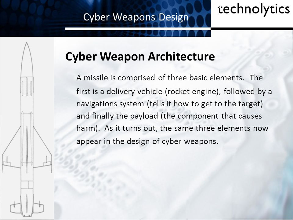 Cyber Weapons Design