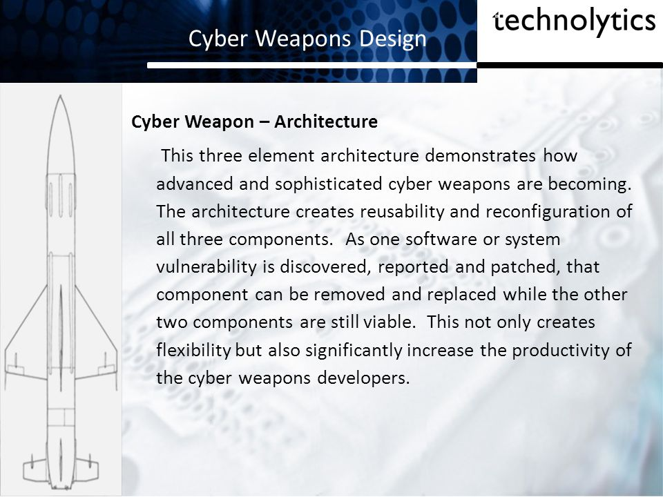Cyber Weapons Design Cyber Weapon – Architecture