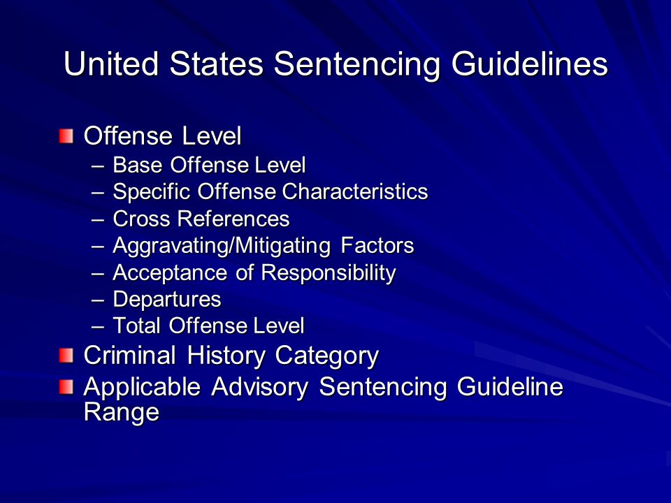 United States Sentencing Guidelines