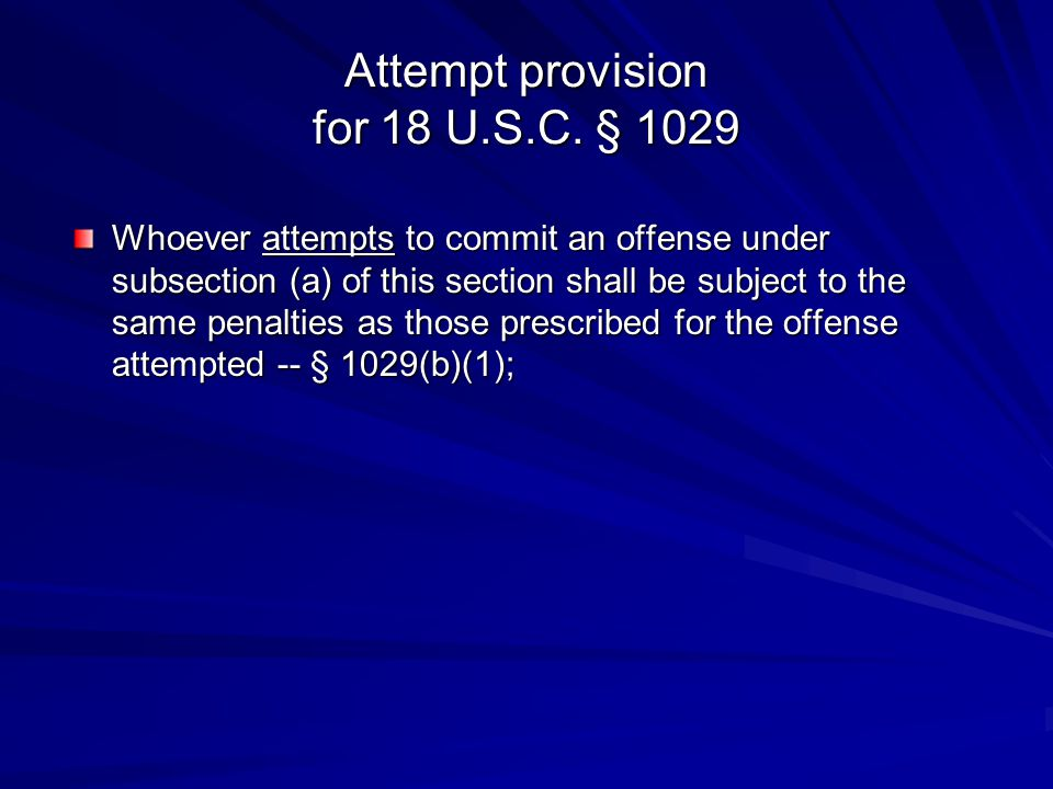 Attempt provision for 18 U.S.C. § 1029