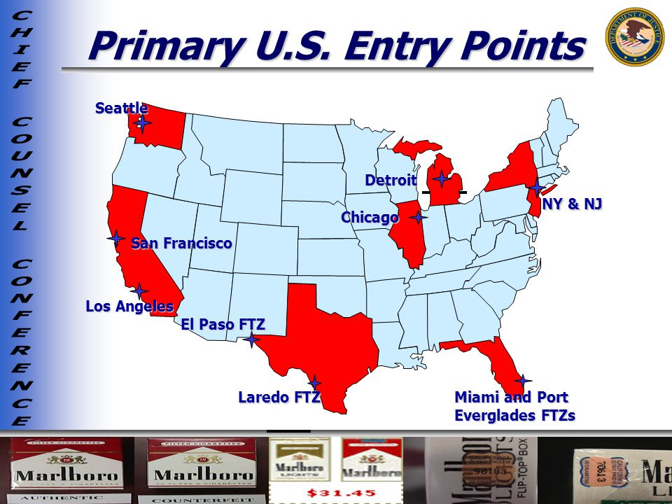 Primary U.S. Entry Points