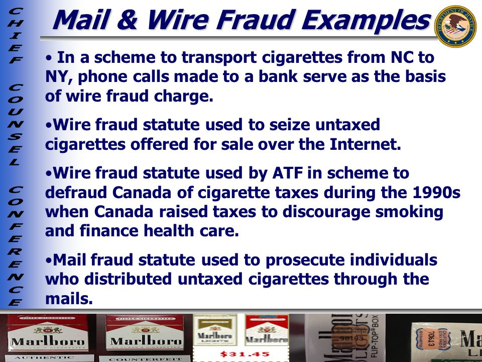 Mail & Wire Fraud Examples