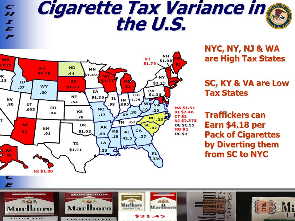 Cigarette Tax Variance in the U.S.