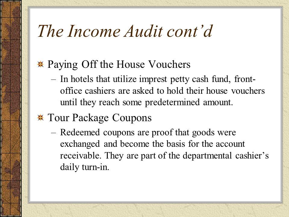 The Income Audit cont'd