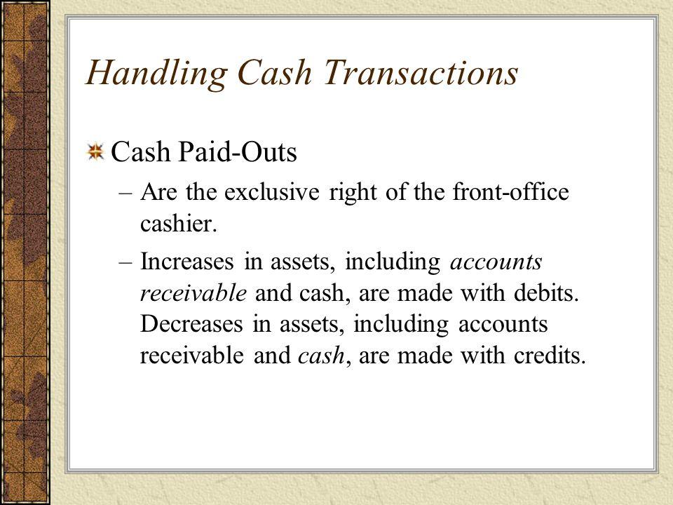 Handling Cash Transactions