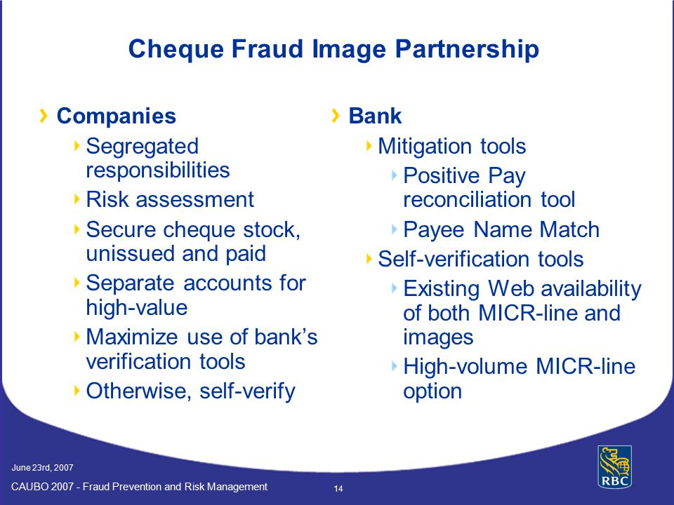 Cheque Fraud Image Partnership