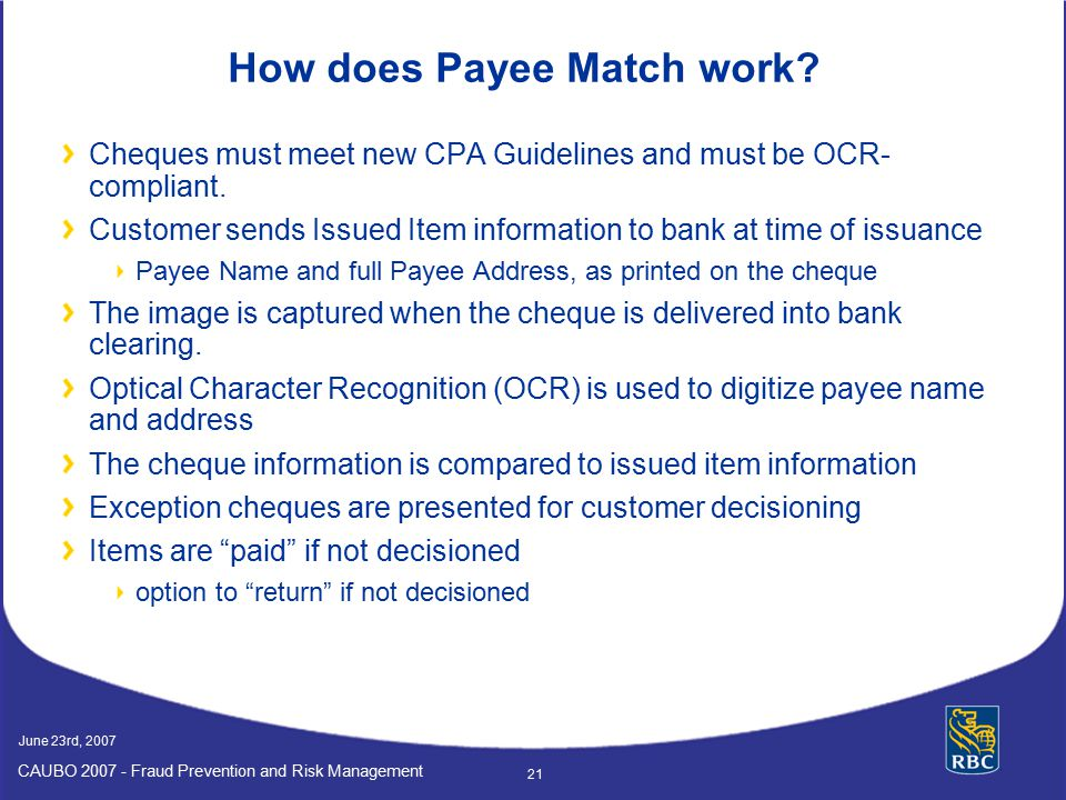 How does Payee Match work
