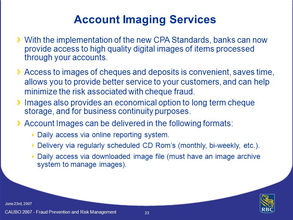 Account Imaging Services