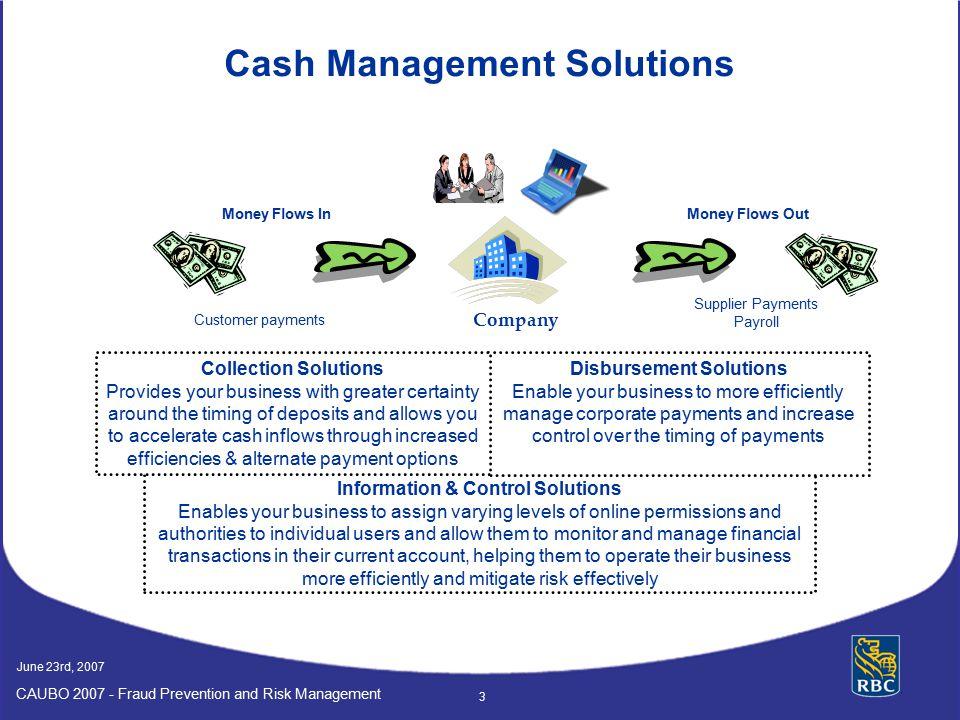 Disbursement Solutions Information & Control Solutions