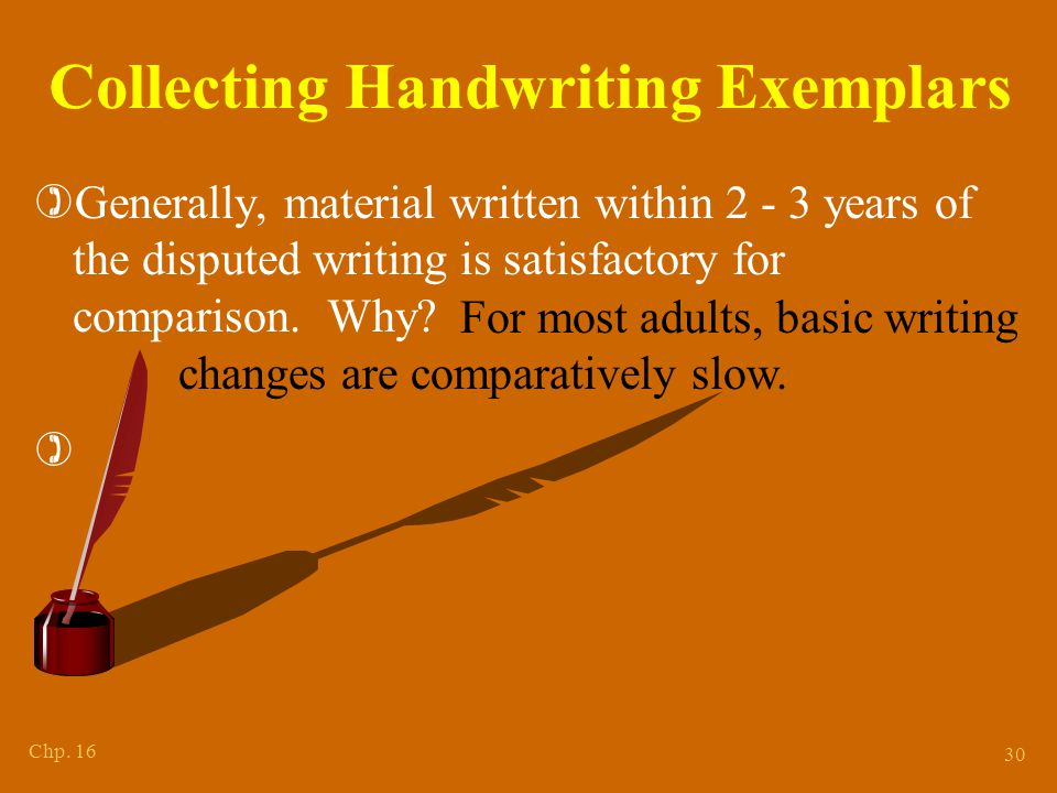 Collecting Handwriting Exemplars