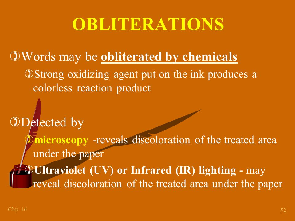 Chapter 15 OBLITERATIONS.