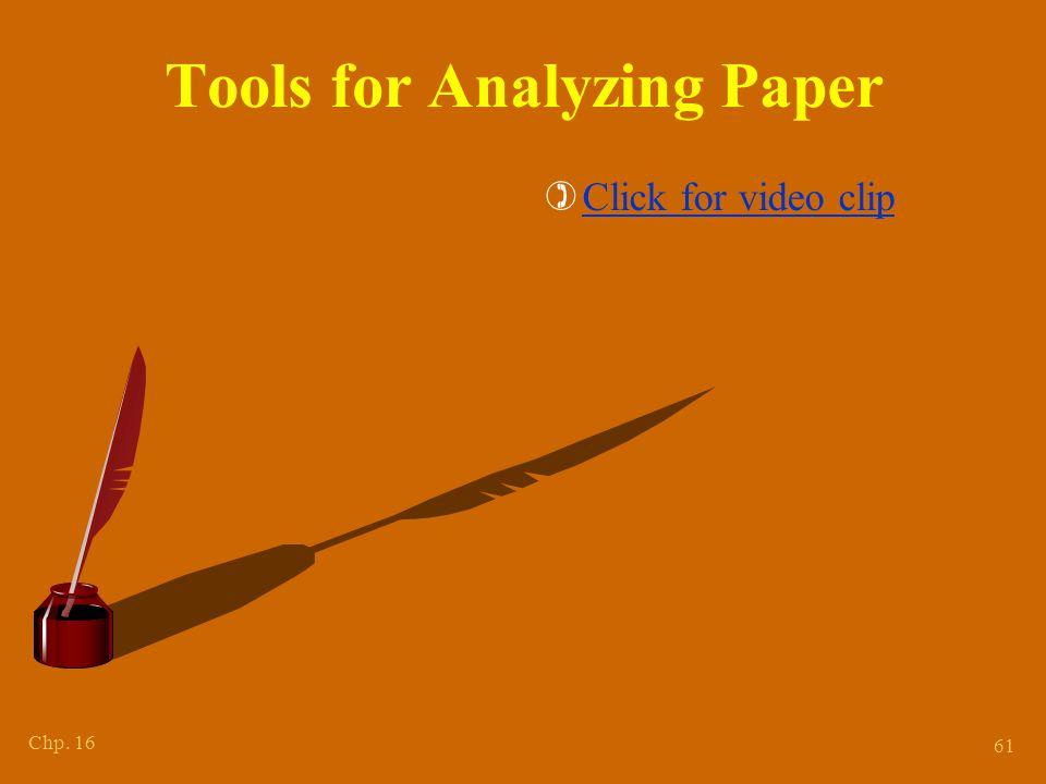 Features for Paper Comparison