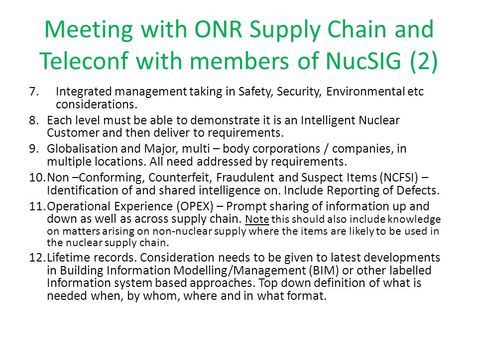 Meeting with ONR Supply Chain and Teleconf with members of NucSIG (2)
