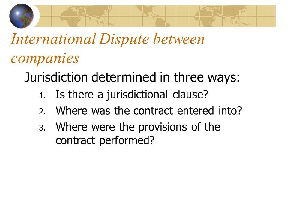 International Dispute between companies