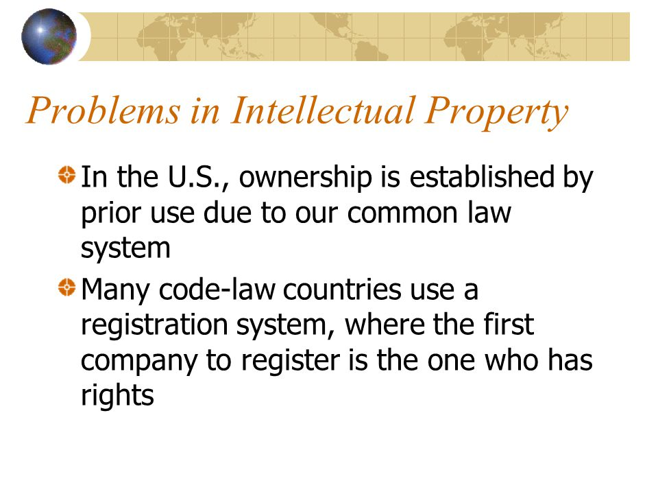 Problems in Intellectual Property