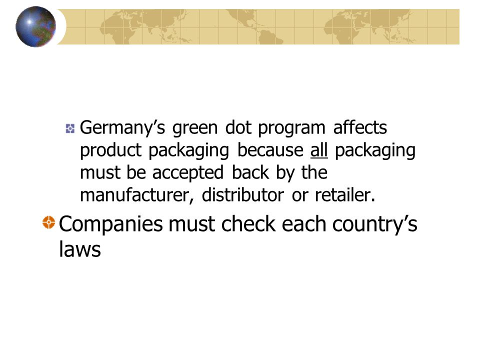 Companies must check each country's laws