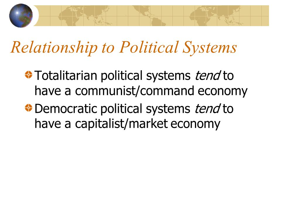 Relationship to Political Systems