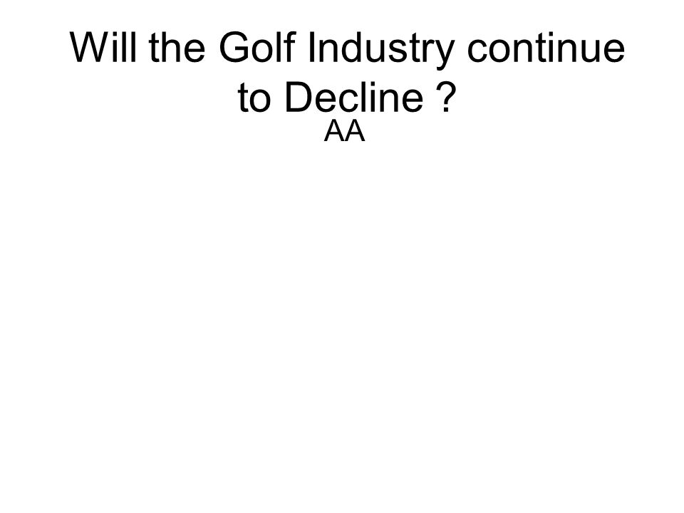 Will the Golf Industry continue to Decline