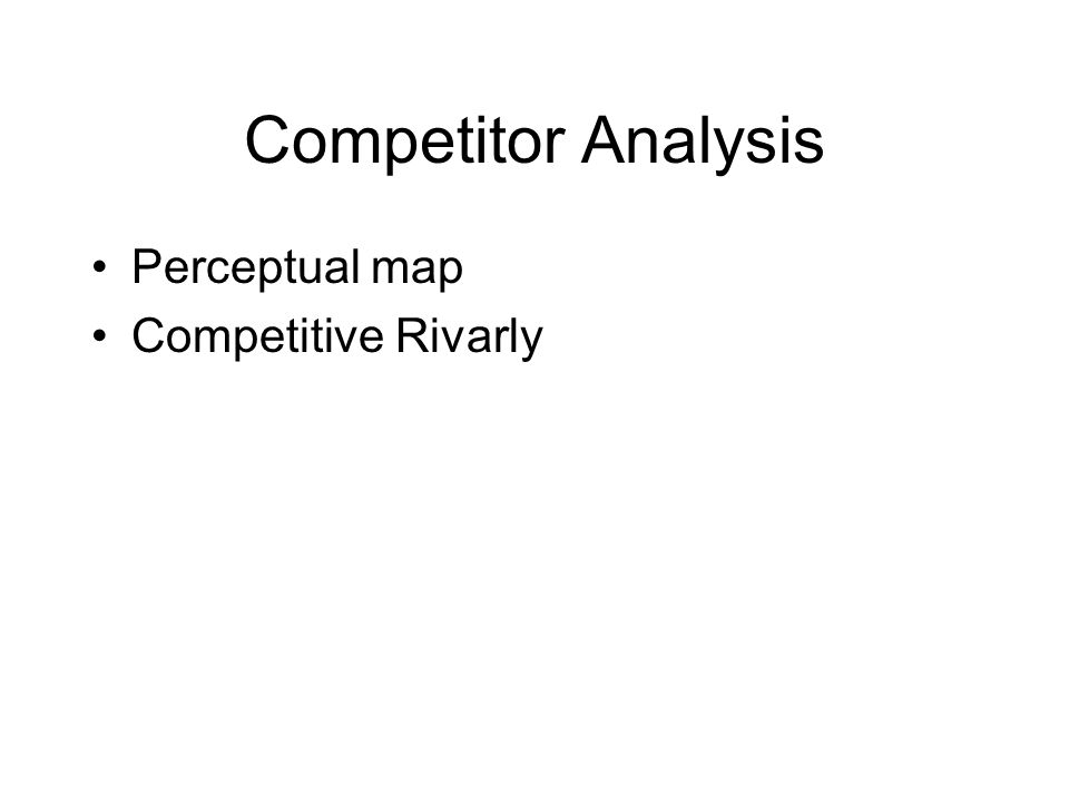 Competitor Analysis Perceptual map Competitive Rivarly