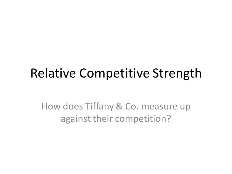Relative Competitive Strength