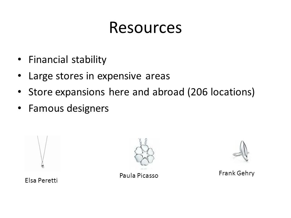 Resources Financial stability Large stores in expensive areas