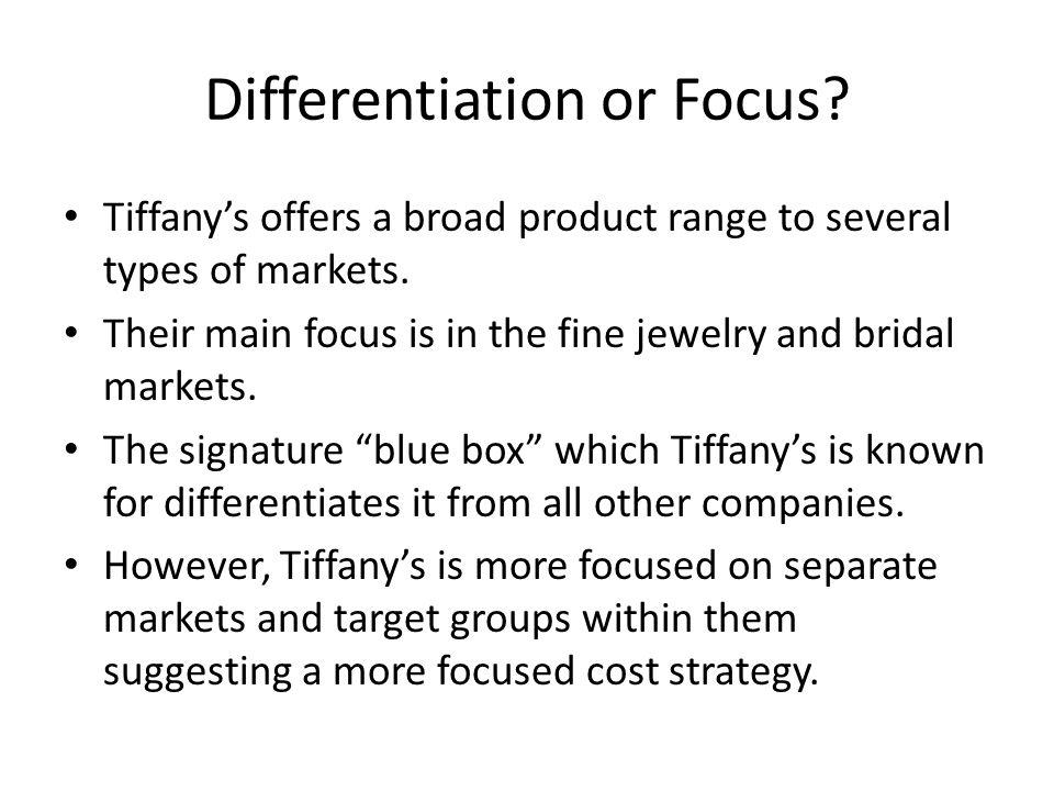 Differentiation or Focus