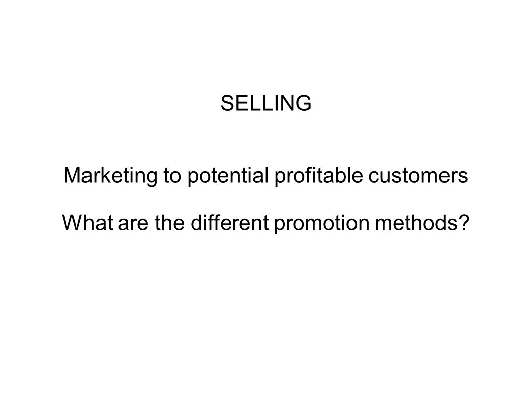 Marketing to potential profitable customers