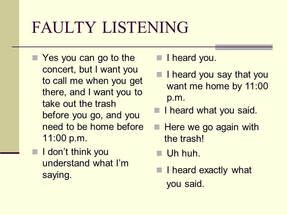 FAULTY LISTENING