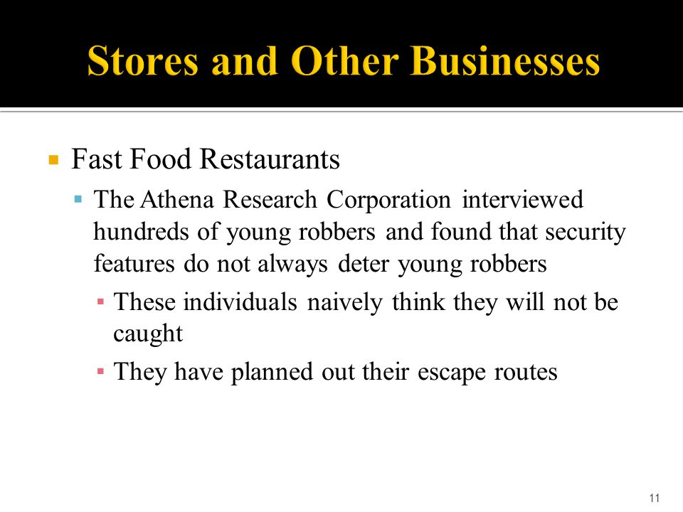 Stores and Other Businesses