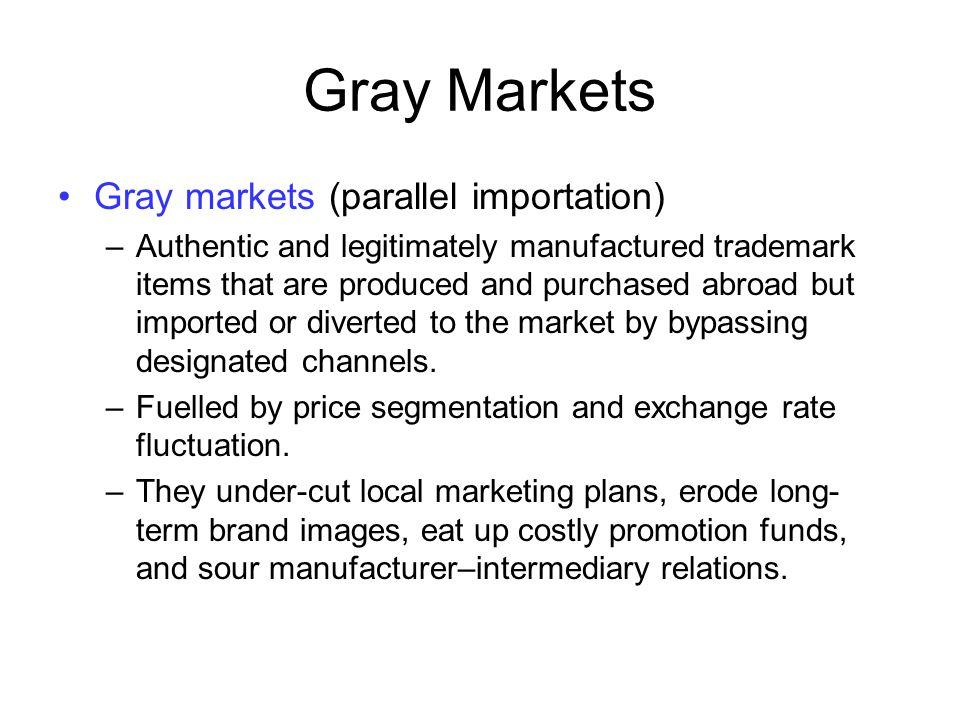 Gray Markets Gray markets (parallel importation)