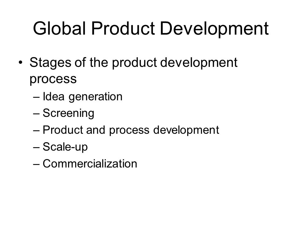 Global Product Development