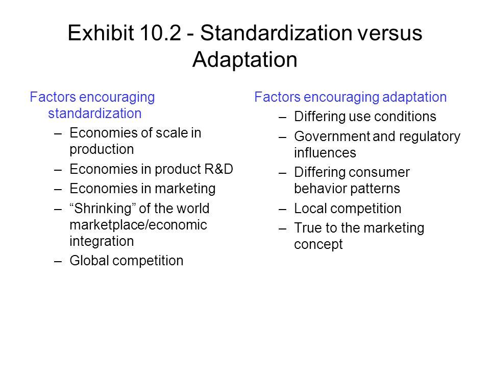 Exhibit 10.2 - Standardization versus Adaptation