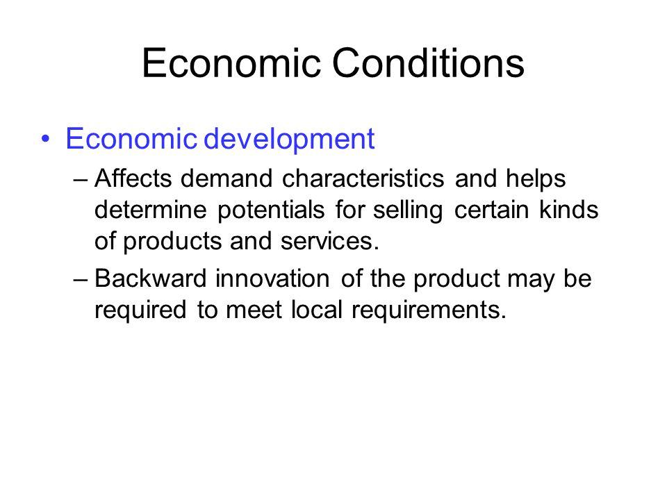 Economic Conditions Economic development