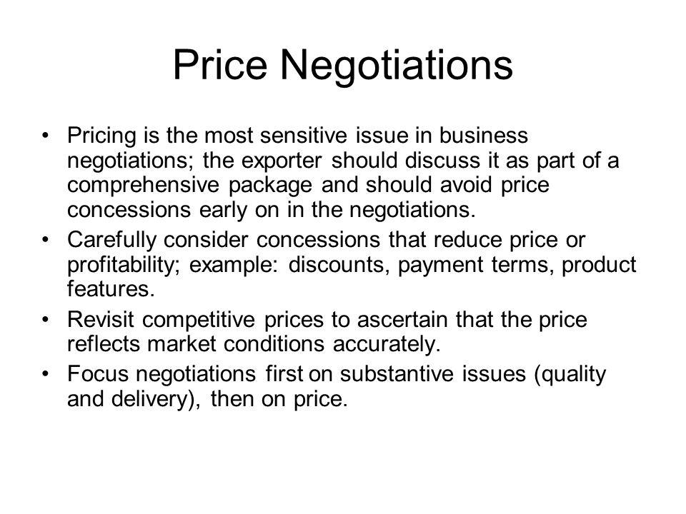 Price Negotiations