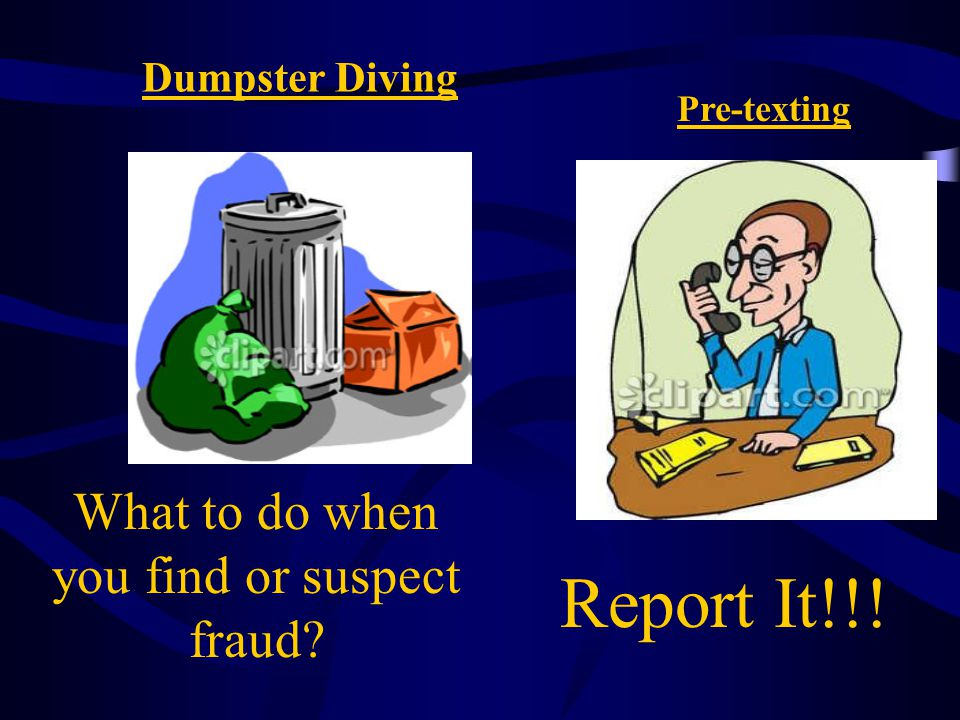 What to do when you find or suspect fraud
