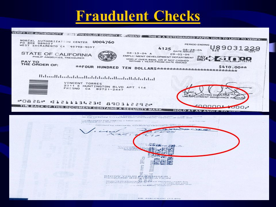 Fraudulent Checks